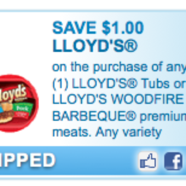 Lloyd's Tubs Or BBQ Coupon
