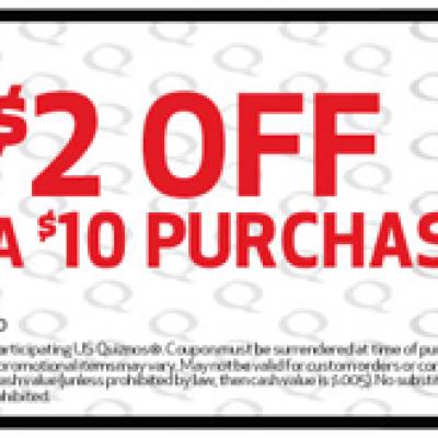 Quiznos Save $2 Coupon