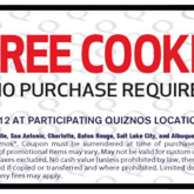 Quiznos Free Cookie Coupon