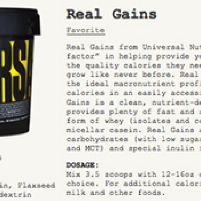 Free Sample of Real Gains Supplement