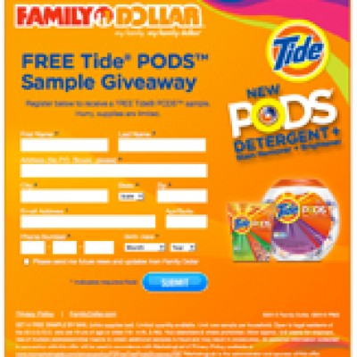 Free Tide Pods at Family Dollar