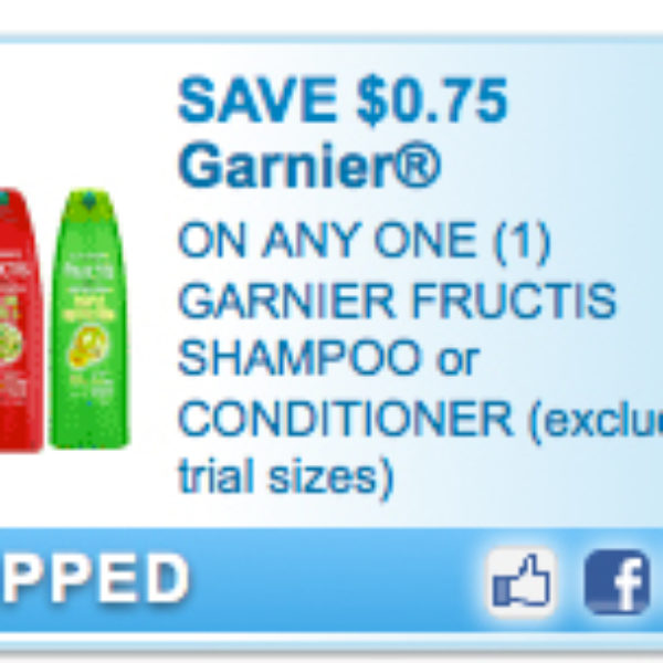 $0.75 Off Any One Garnier Fructis Shampoo or Conditioner