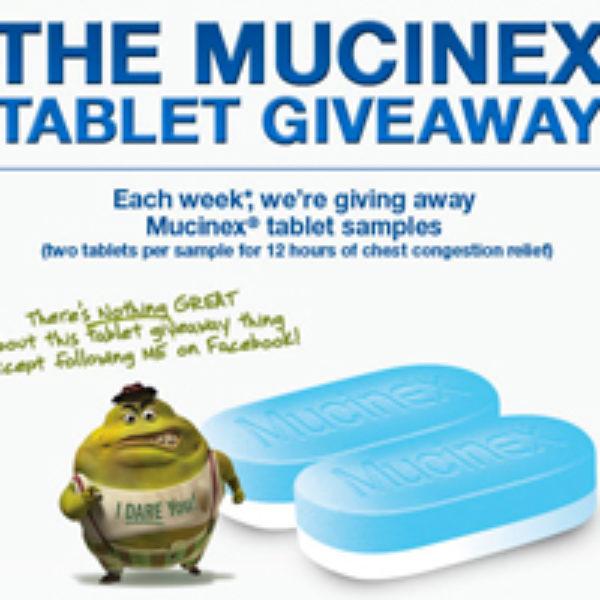 Mucinex Tablet Giveaway