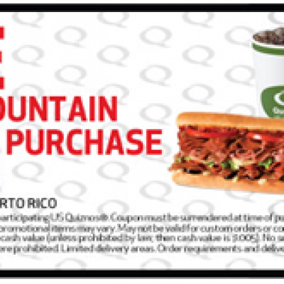 Quiznos Free Drink Coupon