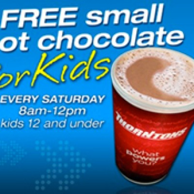 Free Hot Chocolate For Kids At Thortons on Saturdays 8am - 12pm