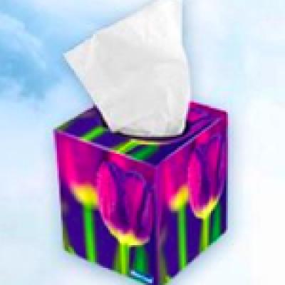Free White Cloud Facial Tissues