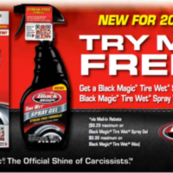 Free Black Magic Tire Wet Gel or Wax With Mail-In Rebate