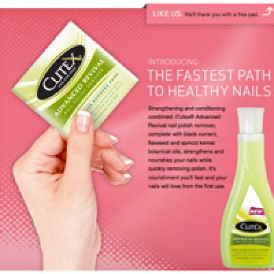 Free Cutex Nail Polish Remover Pad