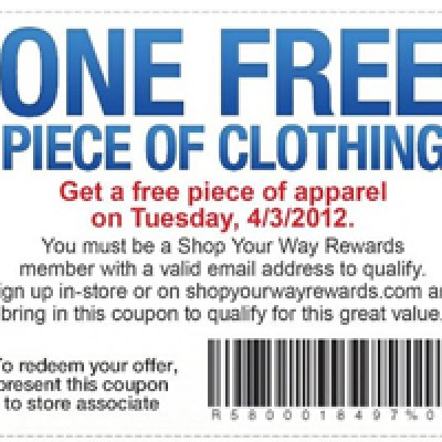 Free Piece of Clothing at Sears Outlet for Shop Your Way Rewards Members