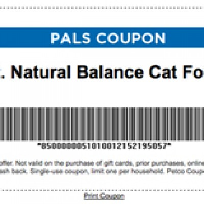 Free 3 oz. Natural Balance Cat Food Pouch With Coupon and Pals Card