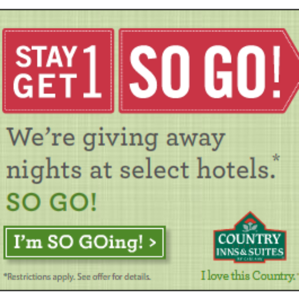 Country Inns & Suites- Free Nights at Select Hotels