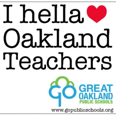 "Free ""I Hella Love Oakland Teachers"" Sticker"