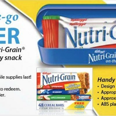 Free Nutri-Grain On-The-Go Carrier with UPC