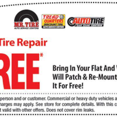 Free Flat Tire Repair at Mr. Tire