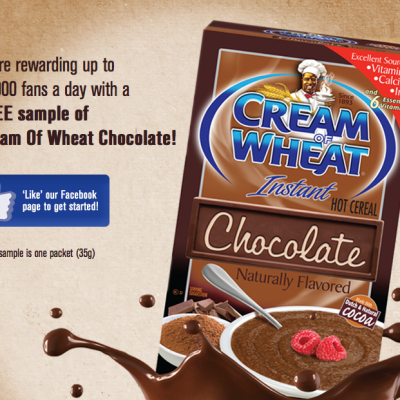 Free Chocolate Cream Of Wheat Samples: 10,000 Daily