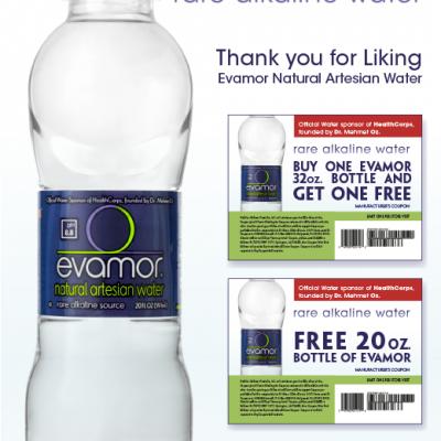 Free Evamor Water & BOGO Coupon