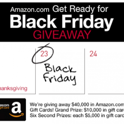 Amazon: Get Ready For Black Friday Giveaway