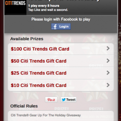 Citi Trends Gear Up For The Holiday Giveaway