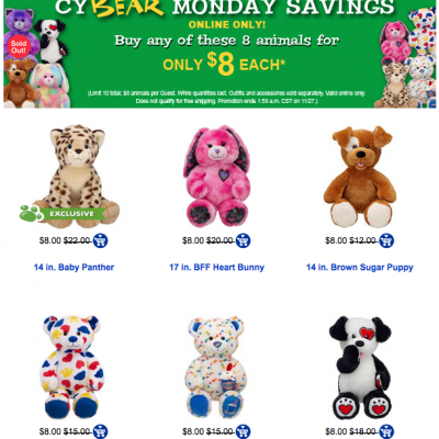 Build-A-Bear Only $8