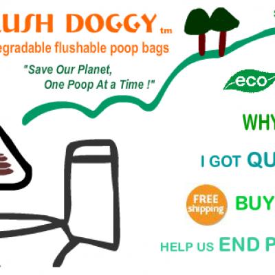 Free Flush Doggy Flushable Poop Bags
