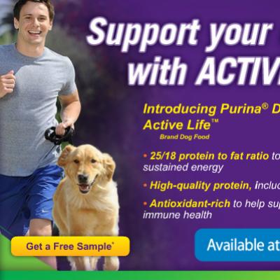 Free Sample of Purina Active Life Dog Food
