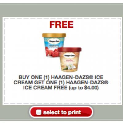 BOGO Haagen-Dazs Ice Cream @ Target