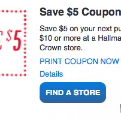 Hallmark: Save $5 on $10