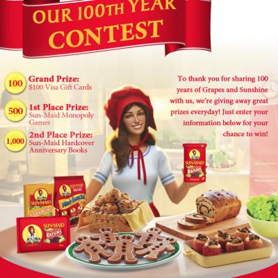 Sun-Maid Girl 100th Year Contest