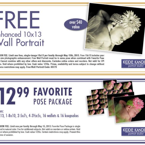 Kiddie Kandids: Free 10x13 Wall Portrait