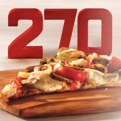 Free Sbarro Skinny Slice on January 15th