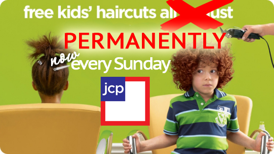 J C Penney Free Haircuts For Kids On Sunday S Oh Yes
