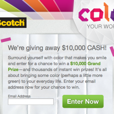 Scotch Color Your World Sweepstakes