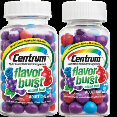 Free Centrum Flavor Burst Chews Samples