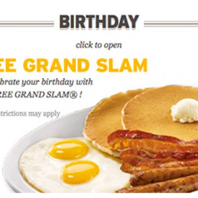 Denny's: Free Birthday Grand Slam + Kids Eat Free Tuesdays