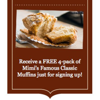 Mimi's Cafe: Free 4-Pack of Mimi's Classic Muffins