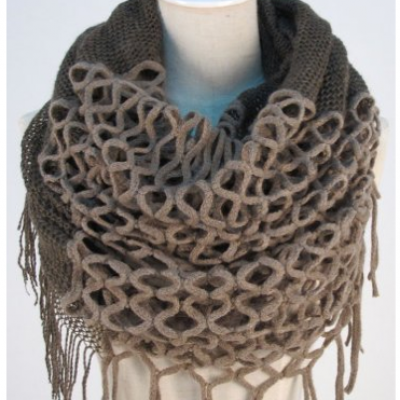 Women's Knitted Winter Scarf With Tassels Only $4.55 + Free Shipping