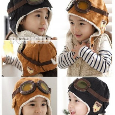 Wool Pilot Style Cap with Ear Flaps Just $3.99 + Free Shipping