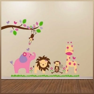 Jungle Animal Decal Wall Art Only $4.69 + Free Shipping