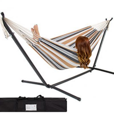 Double Hammock W/ Space Saving Steel Stand $59.94 (Reg $250) + Free Shipping