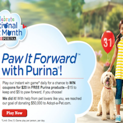 Purina: Paw It Forward Instant-Win Game