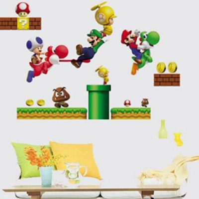 Super Mario Removable Vinyl Wall Art Just $4.84 + Free Shipping