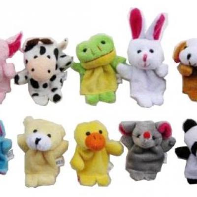 Velvet Animal Style Finger Puppets Set - Just $2.99 + Free Shipping