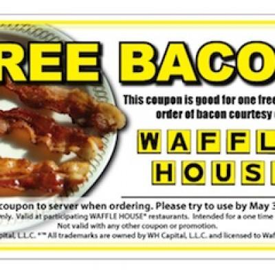 Waffle House: Free Bacon
