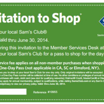 Free One-Day Pass to Sam's Club