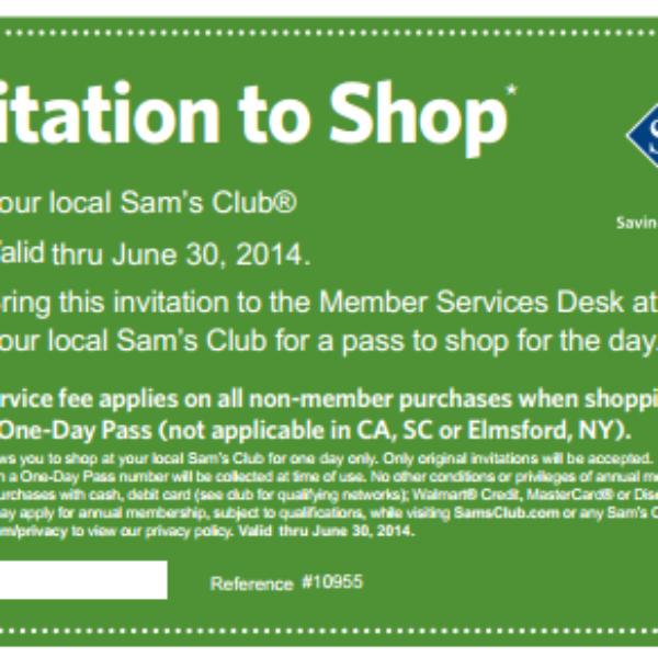 Free One-Day Pass to Sam's Club