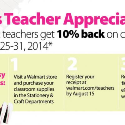 Walmart: Teacher Appreciation Week