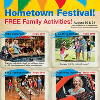 Bass Pro Shops Hometown Festival: Free Family Activities, Facepainting, Hot Dogs & More