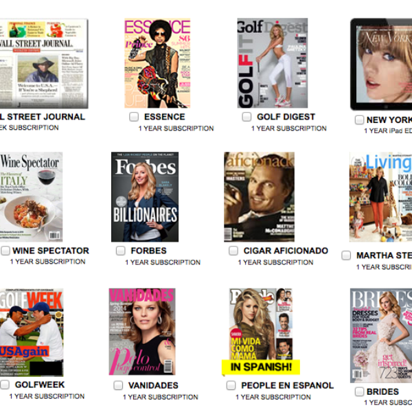 Free Magazine Subscription: 12 To Choose From!