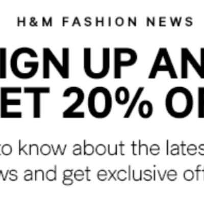 H&M Fashion News: 20% Off One Item