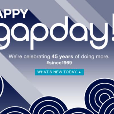 Happy GapDay: $45 Off $100 @ The Gap